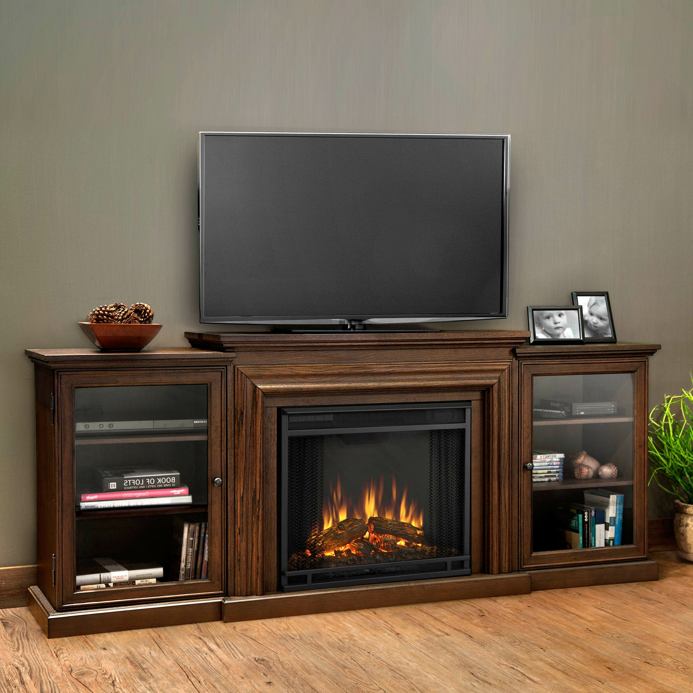 Well Known Real Flame Frederick Tv Stand With Electric Fireplace With Electric Fireplace Tv Stands With Shelf (View 5 of 10)