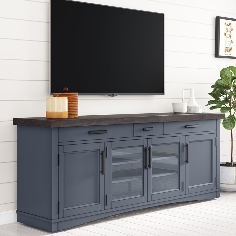 """Well Known Sand & Stable Abalone Tv Stand For Tvs Up To 85"""" & Reviews For Bustillos Tv Stands For Tvs Up To 85"""" (View 19 of 25)"""