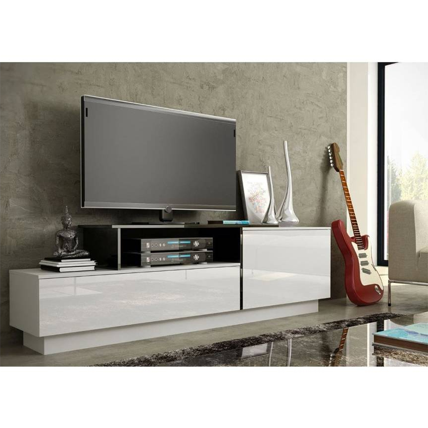 Well Known Sigma 180 Tv Storage–black Or White – Living Room Furniture With Regard To Casablanca Tv Stands (View 5 of 10)