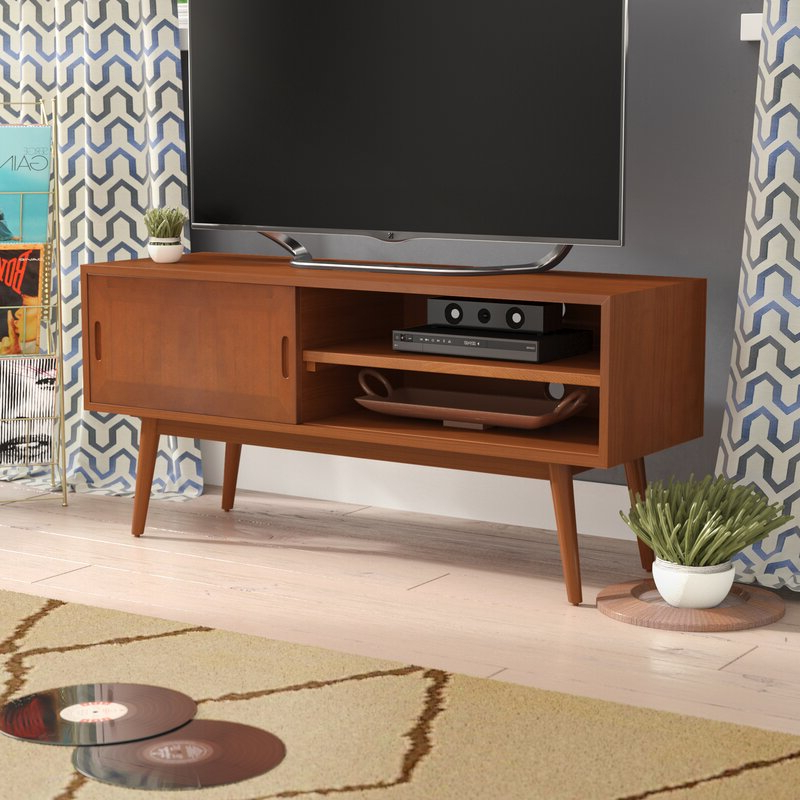 """Well Known Solid Wood Tv Stands For Tvs Up To 65"""" Pertaining To Wrought Studio Staveley Solid Wood Tv Stand For Tvs Up To (View 3 of 25)"""