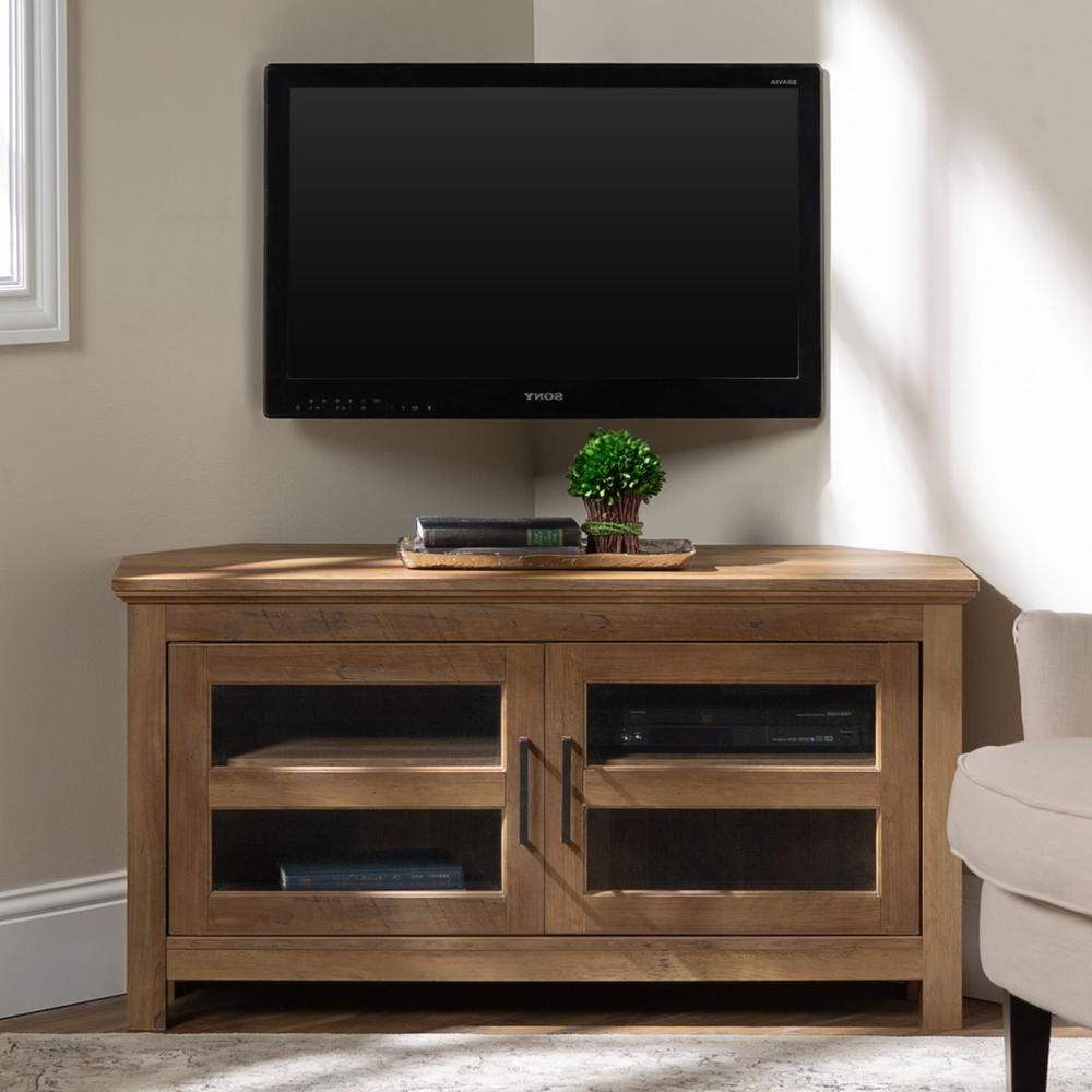Well Known Urban Rustic Tv Stands Inside Walker Edison Furniture Company Cordoba 44 In (View 5 of 10)