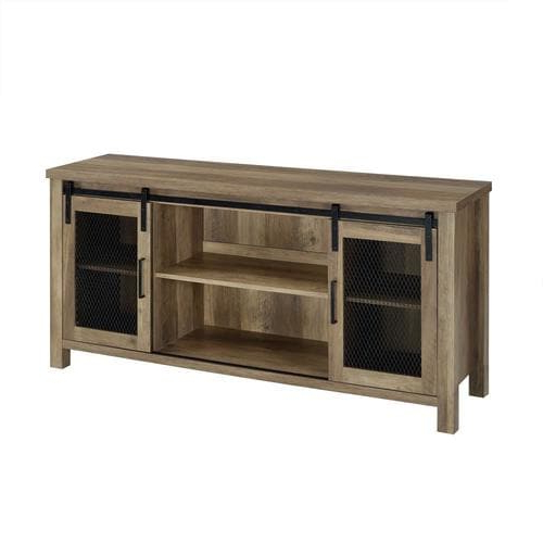 Well Known Walker Edison 58 In Industrial Tv Stand  Rustic Oak In The Within Urban Rustic Tv Stands (View 6 of 10)