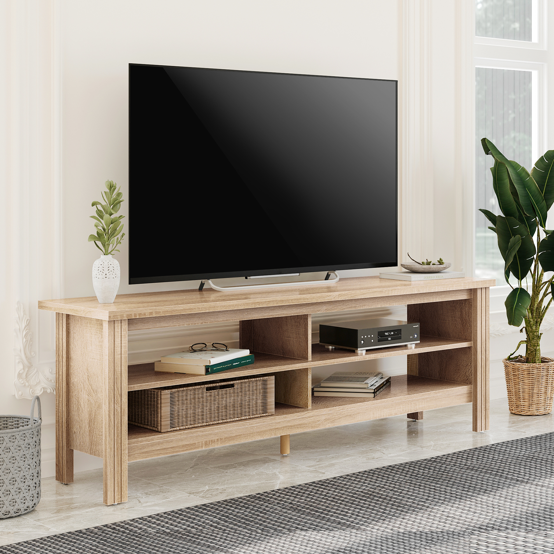"""Well Known Wampat Farmhouse Tv Stand For 65 Inch Flat Screen, Living Inside Olinda Tv Stands For Tvs Up To 65"""" (View 3 of 25)"""