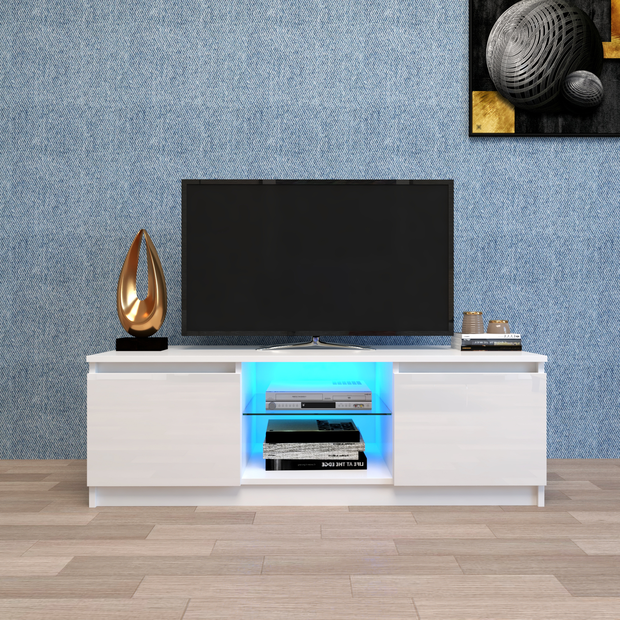 Well Known White Tv Stand With Led Lights, Corner Tv Stand With Pertaining To Polar Led Tv Stands (View 9 of 10)