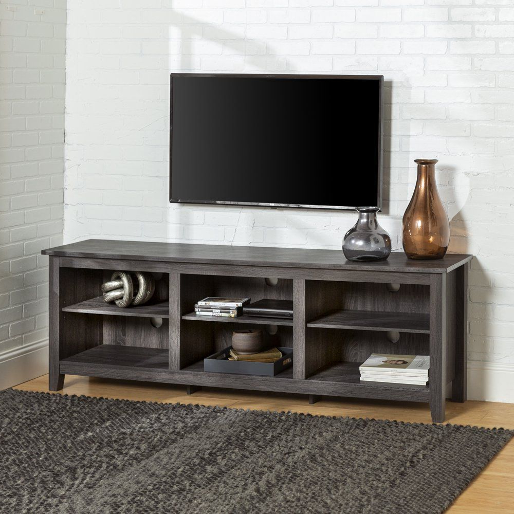 Well Known Woven Paths Open Storage Tv Stand For Tvs Up To 80 With Regard To Woven Paths Open Storage Tv Stands With Multiple Finishes (View 2 of 10)