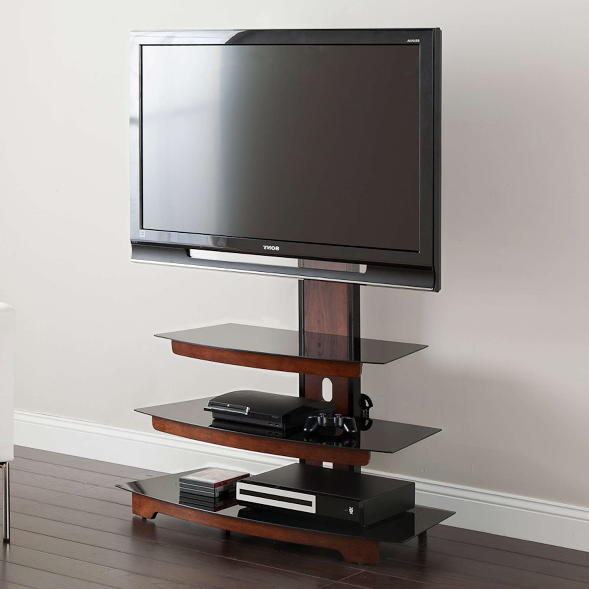 """Well Liked Aaliyah Floating Tv Stands For Tvs Up To 50"""" With Whalen 3 Tier Television Stand For Tvs Up To 50"""", Perfect (View 5 of 25)"""