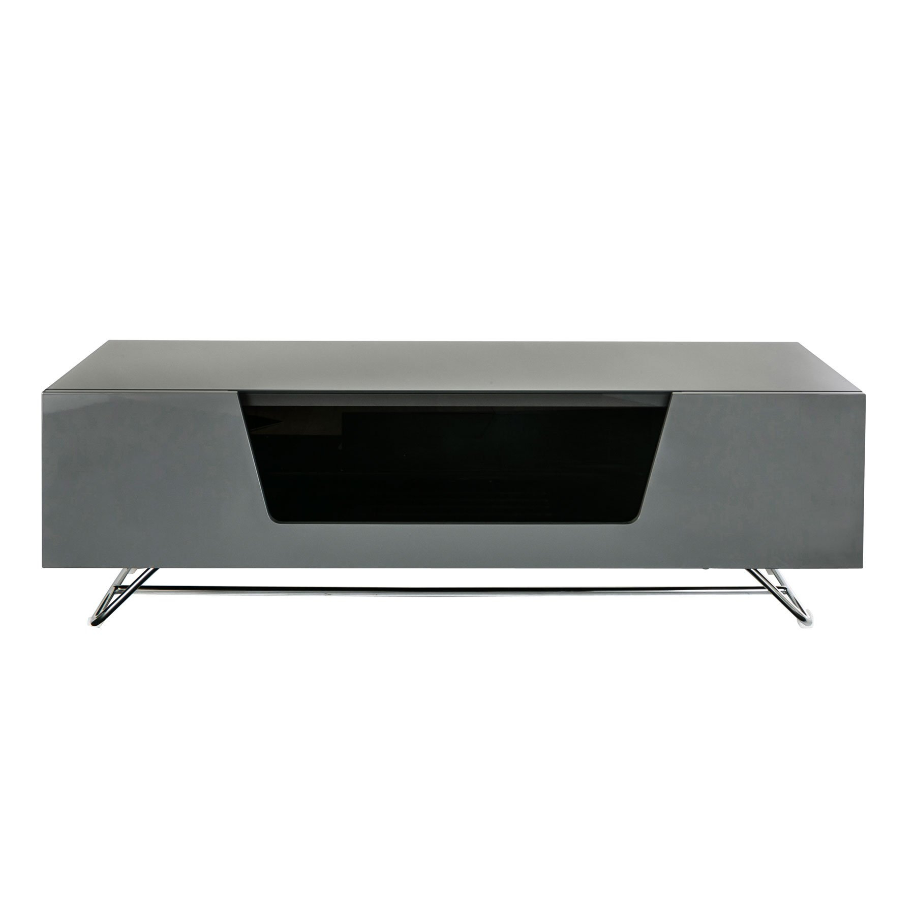 """Well Liked Alphason Chromium 2 120cm Grey Tv Stand For Up To 60"""" Tvs Pertaining To Chromium Tv Stands (View 1 of 25)"""