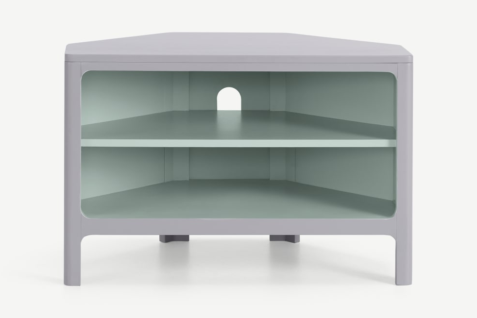 Well Liked Bromley Oak Corner Tv Stands Intended For Bromley Corner Media Unit, Grey & Mint (View 10 of 10)
