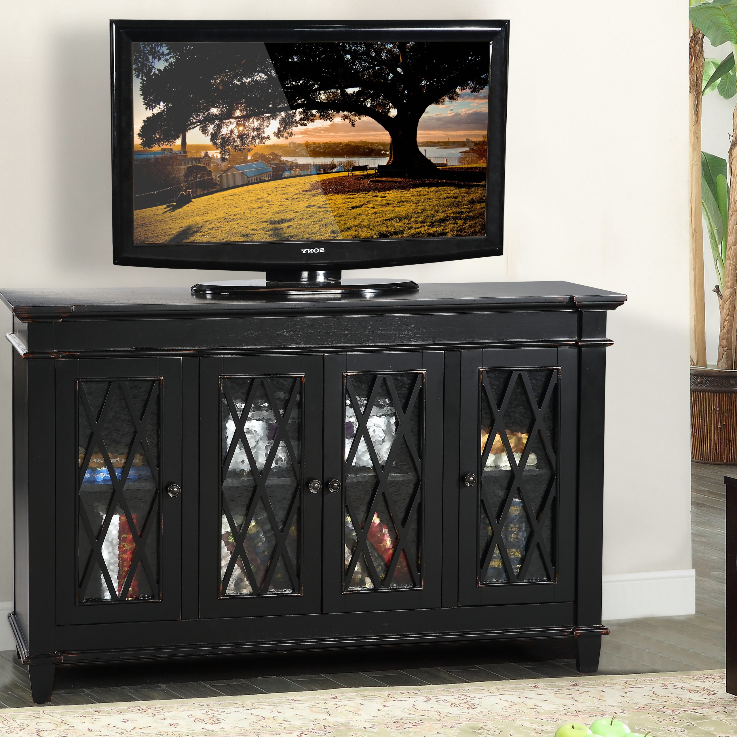 """Well Liked Copen Wide Tv Stands For Glenwillow Home 56"""" Wide Tv Stand/accent Cabinet With (View 8 of 10)"""