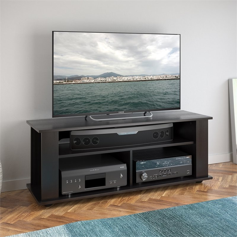 """Well Liked Corliving Bakersfield Tv Stand In Ravenwood Black – For For Twila Tv Stands For Tvs Up To 55"""" (View 8 of 25)"""