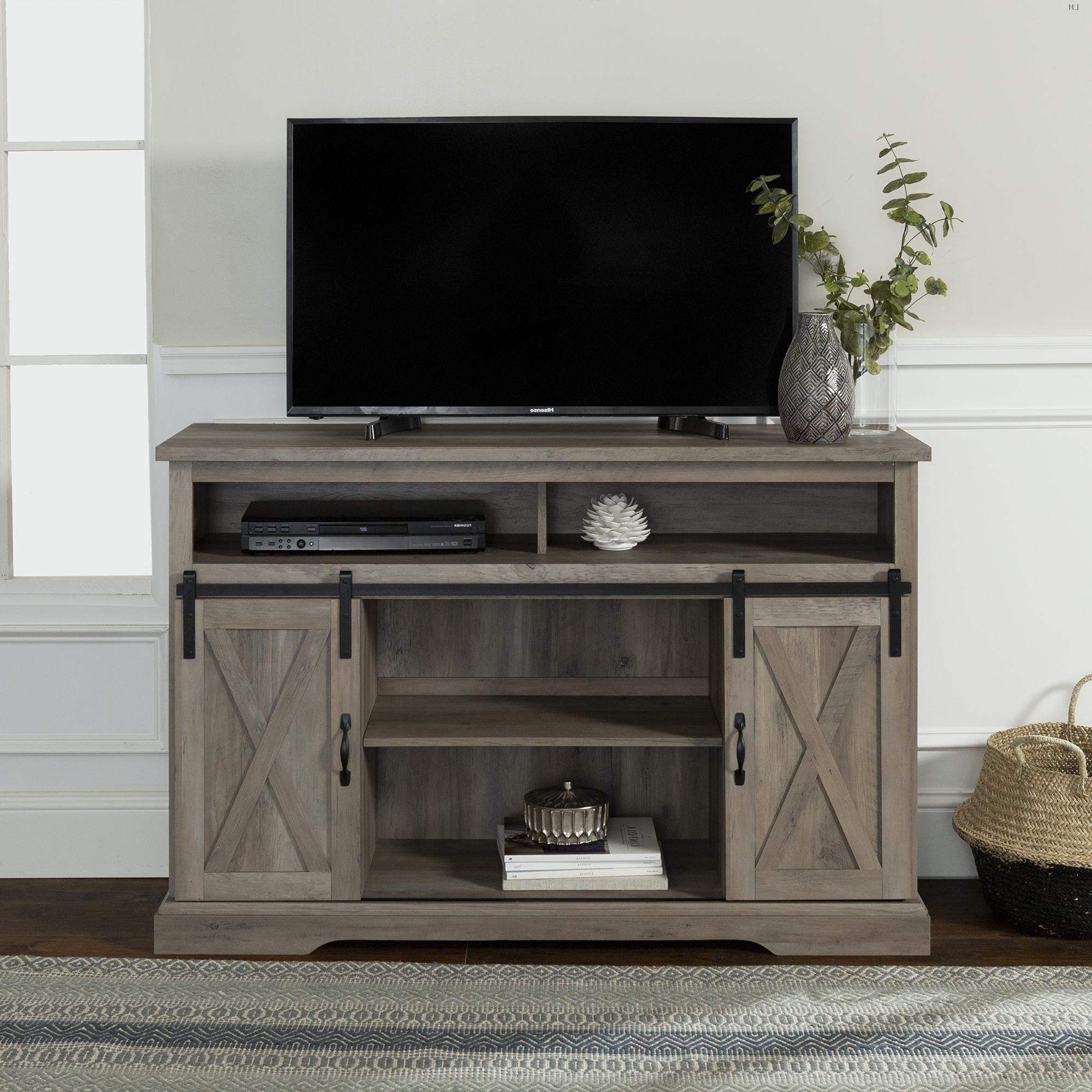"""Well Liked Farmhouse Barn Door Tv Stand For Tvs Up To 58""""manor For Kamari Tv Stands For Tvs Up To 58"""" (View 7 of 25)"""