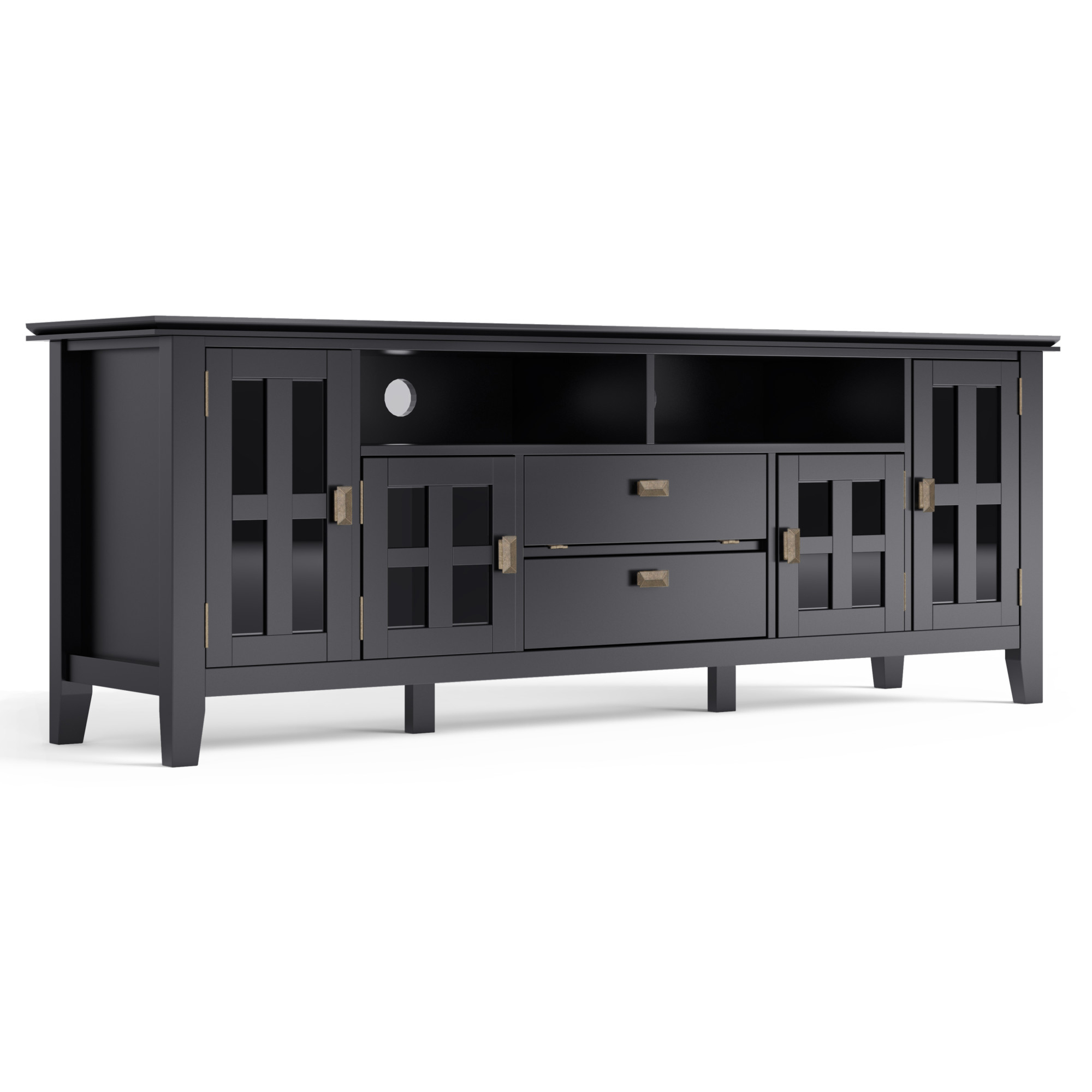 Well Liked Indi Wide Tv Stands With Brooklyn + Max Holden Solid Wood 72 Inch Wide Contemporary (View 16 of 25)