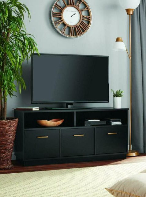 Well Liked Mainstays 3 Door Tv Stand Console For Tvs Up To 50 Inside Mainstays Parsons Tv Stands With Multiple Finishes (View 8 of 10)