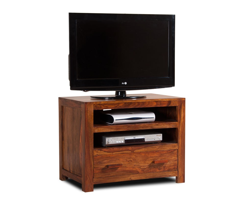 Well Liked Manhattan Compact Tv Unit Stands With Handcrafted Solid Wood Tv Unit – Small (View 6 of 10)