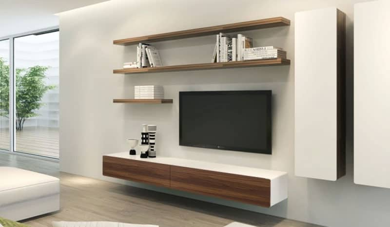Well Liked Scandi 2 Drawer Grey Tv Media Unit Stands In Modern Floating Tv Units – Vurni (View 6 of 10)