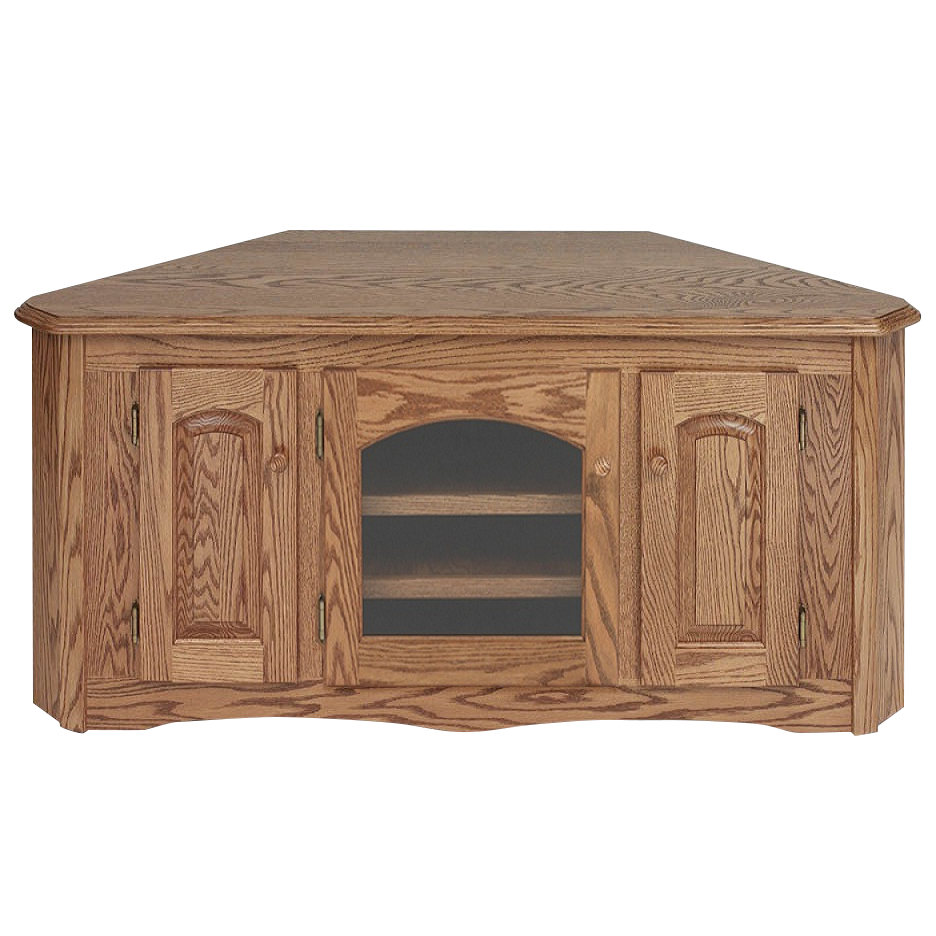 Well Liked Solid Oak Country Style Corner Tall Tv Stand W/cabinet In Hex Corner Tv Stands (View 21 of 25)