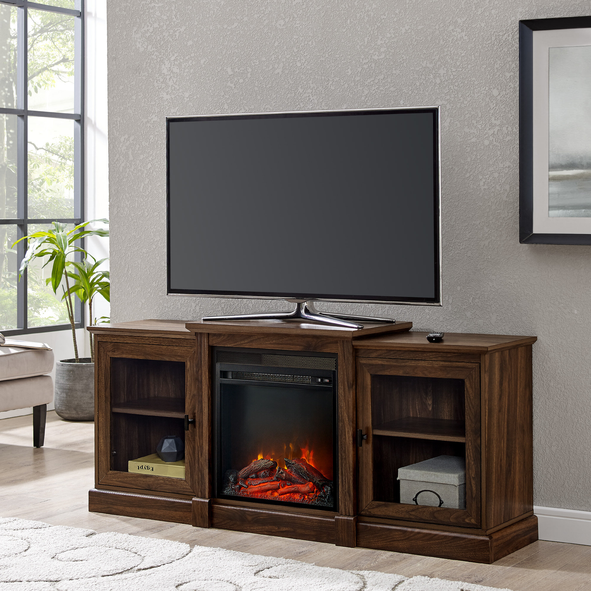 """Well Liked Totally Tv Stands For Tvs Up To 65"""" Regarding 65 Inch Tv Stand With Fireplace (View 1 of 25)"""