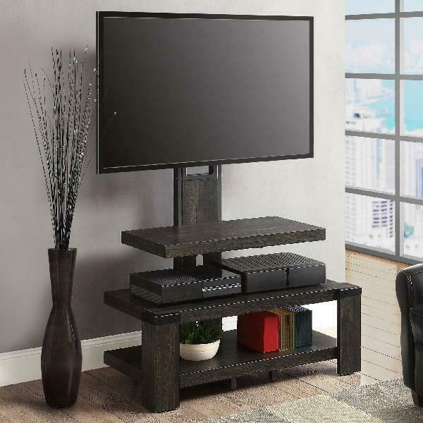 """Whalen Black Tv Stand For 65 Inch Flat Panel Tv Tempered Inside Best And Newest Betton Tv Stands For Tvs Up To 65"""" (View 16 of 25)"""