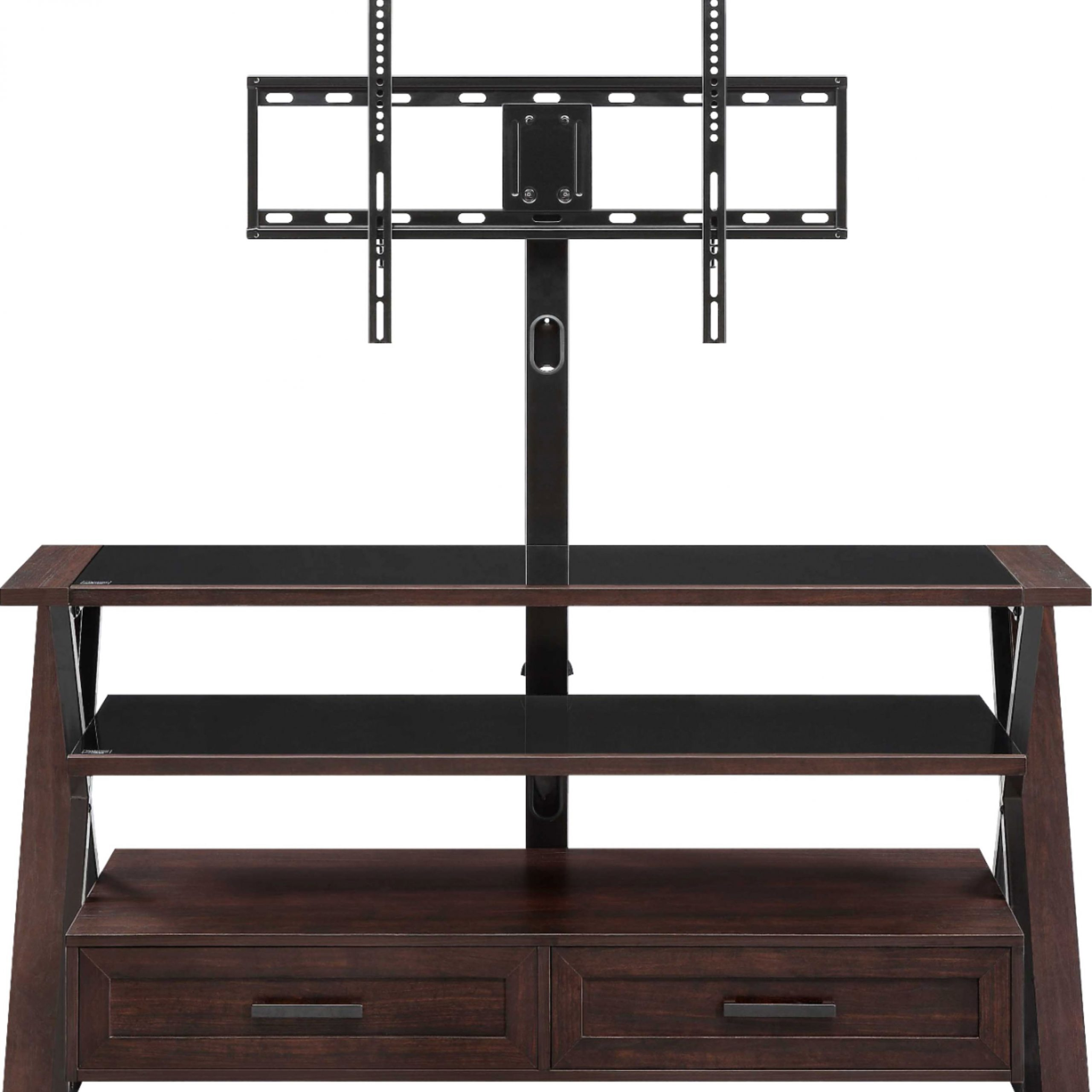"""Whalen Furniture 3 In 1 Tv Stand For Most Flat Panel Tvs Pertaining To Best And Newest Kasen Tv Stands For Tvs Up To 60"""" (View 22 of 25)"""