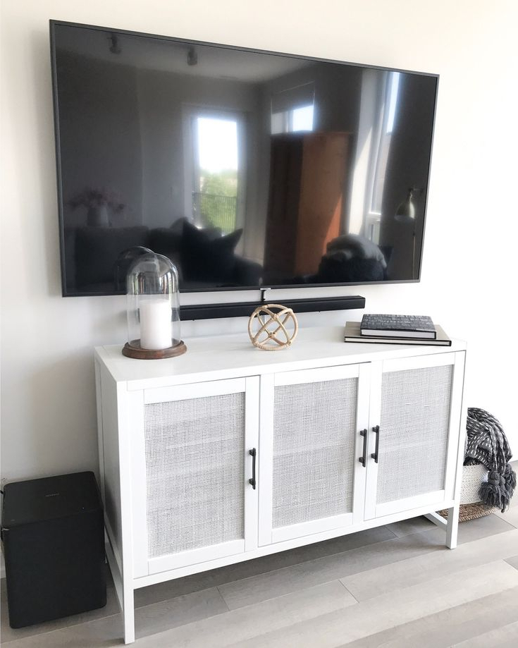 White Tv Stands, Tv Consoles (View 9 of 10)
