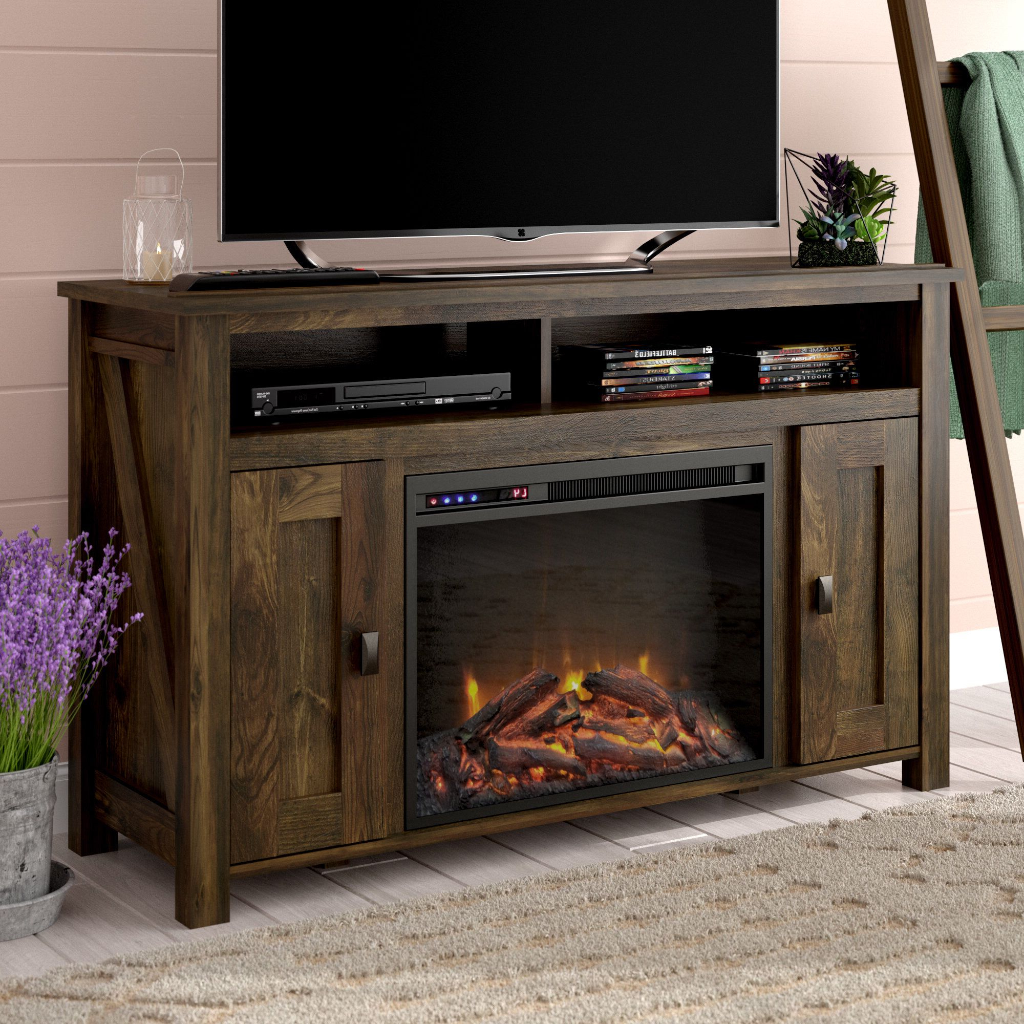 """Whittier Tv Stand For Tvs Up To 50"""" With Electric With Preferred Allegra Tv Stands For Tvs Up To 50"""" (View 15 of 25)"""