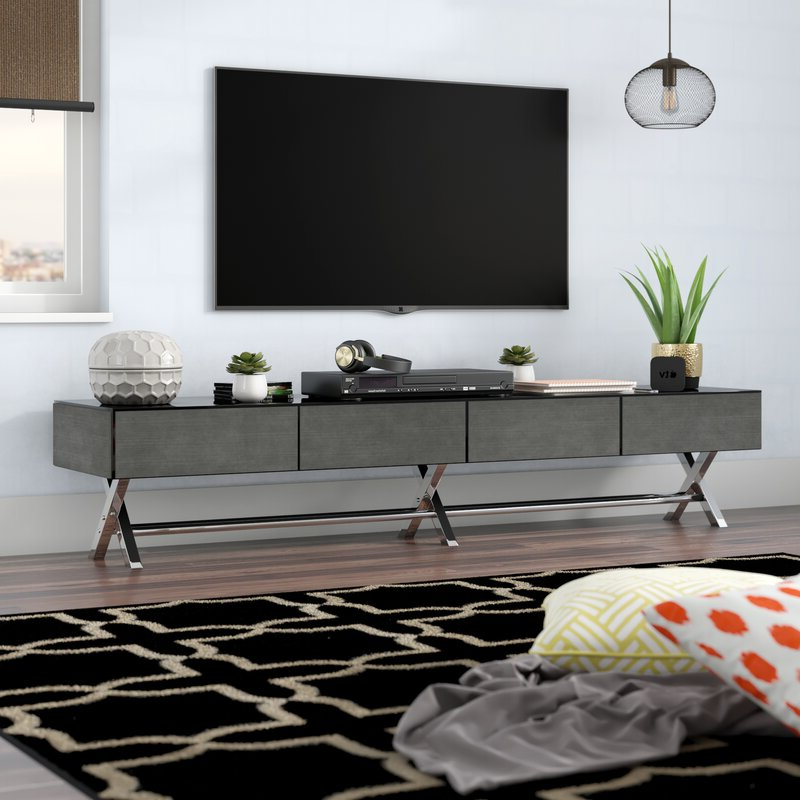 """Widely Used Ailiana Tv Stands For Tvs Up To 88"""" With Orren Ellis Abdulsalam Tv Stand For Tvs Up To  (View 12 of 25)"""