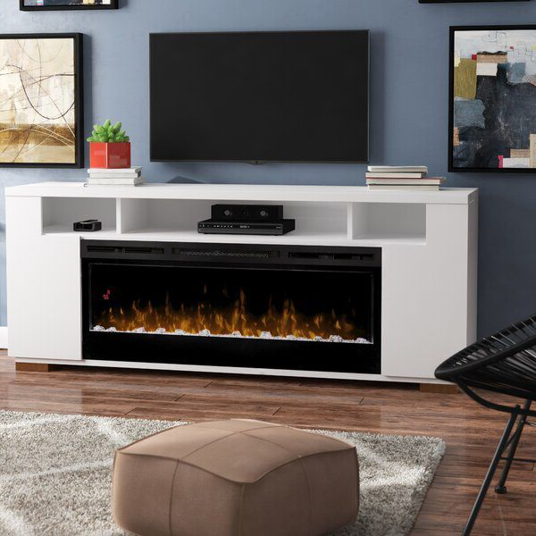"""Widely Used Barnett Tv Stand For Tvs Up To 85"""" With Fireplace Included Within Lorraine Tv Stands For Tvs Up To 60"""" With Fireplace Included (View 12 of 25)"""