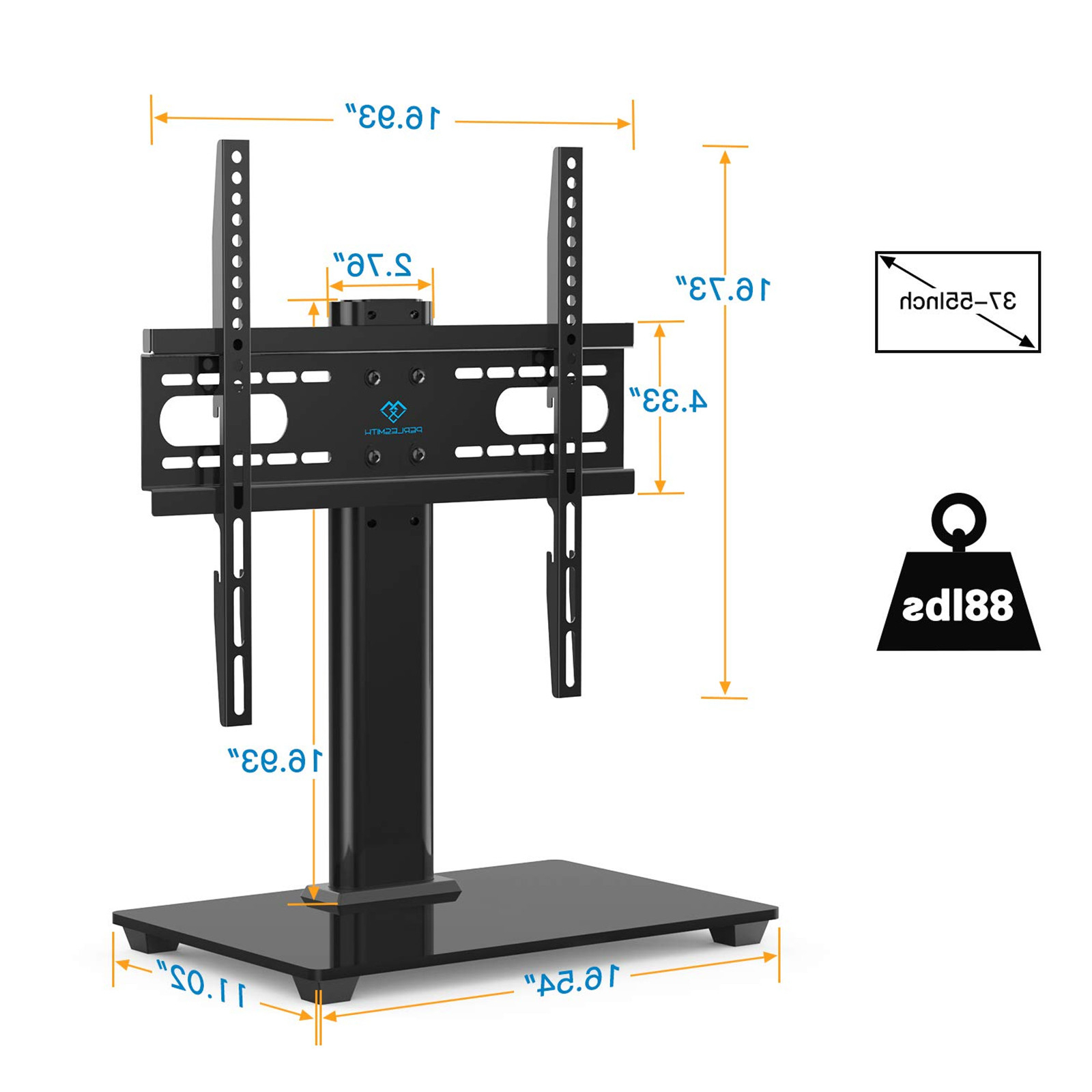 """Widely Used Buy The Perlesmith Pstvs04 Universal Tv Stand For 37"""" – 55 With Baba Tv Stands For Tvs Up To 55"""" (View 22 of 25)"""
