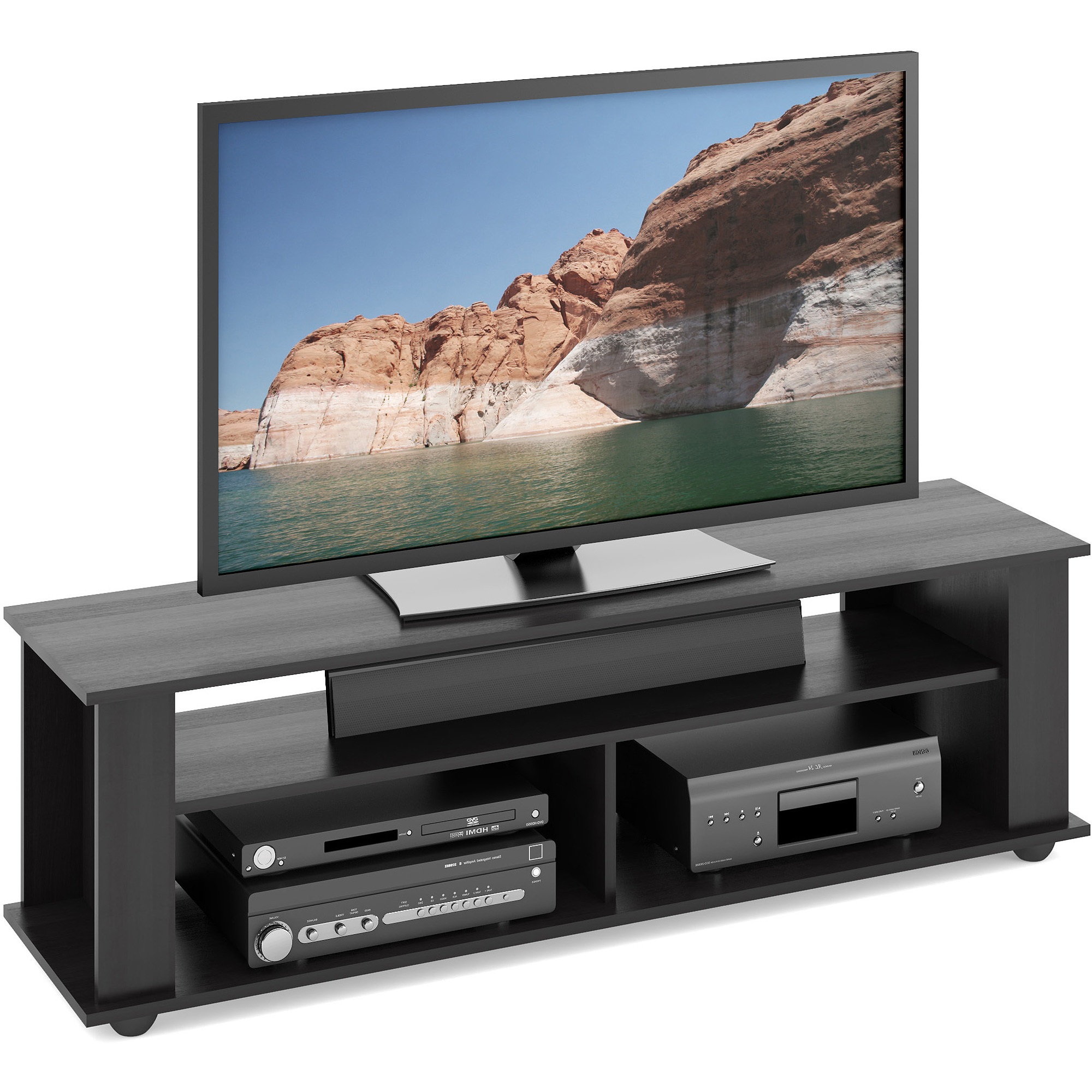 """Widely Used Caleah Tv Stands For Tvs Up To 65"""" Inside Black Tv Stand For Tvs Up To 65 Inch Entertainment Center (View 11 of 25)"""