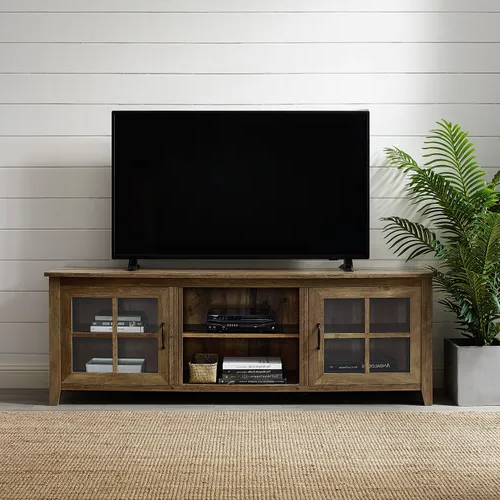 Widely Used Farmhouse Sliding Barn Door Tv Stands For 70 Inch Flat Screen Pertaining To Pinamy Sheridan Design On Basement (View 10 of 10)