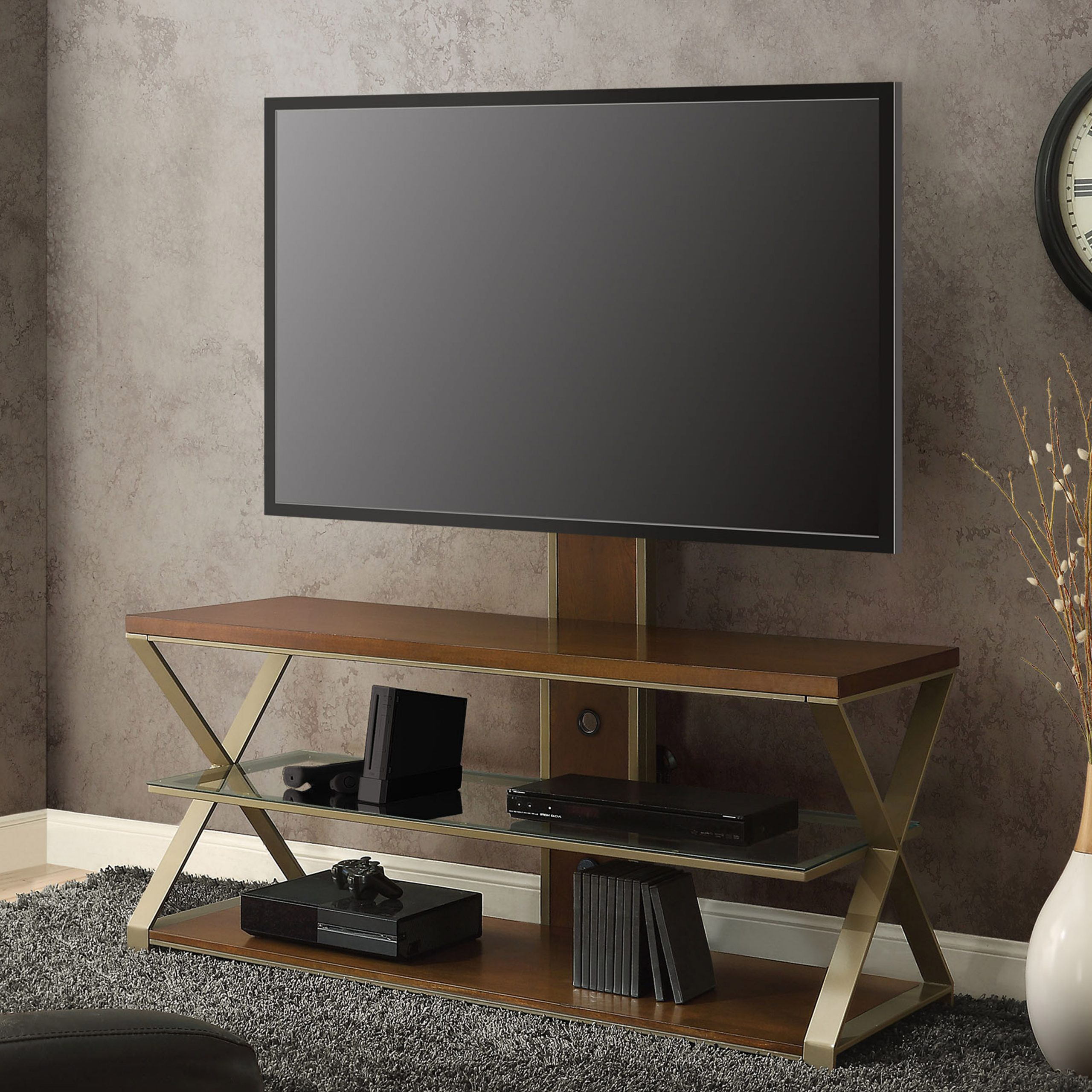 """Widely Used Jaxon 3 In 1 Television Stand For Tvs Up To 70"""", With 3 With Lorraine Tv Stands For Tvs Up To 70"""" (View 18 of 25)"""
