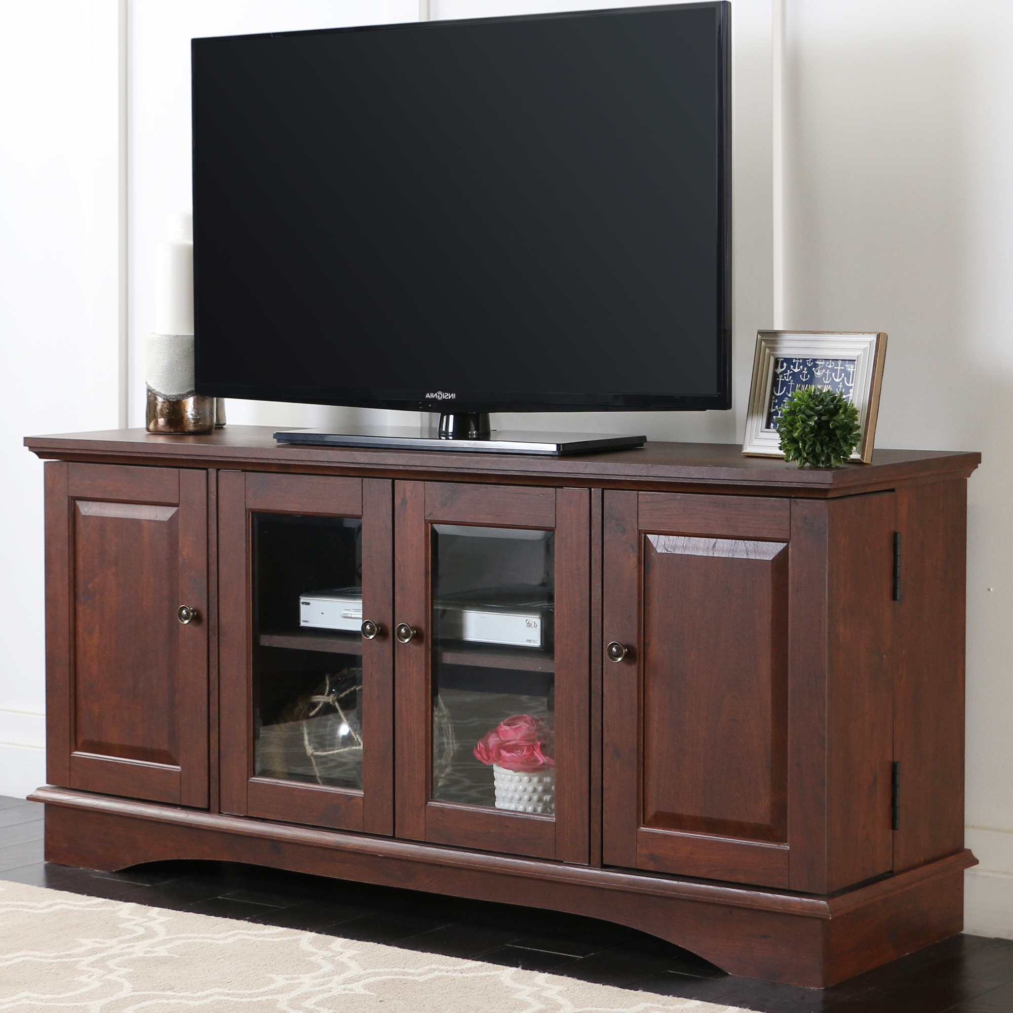 """Widely Used Lansing Tv Stands For Tvs Up To 55"""" Throughout Walker Edison Wood Tv Stand For Tvs Up To 55""""  Brown (View 23 of 25)"""