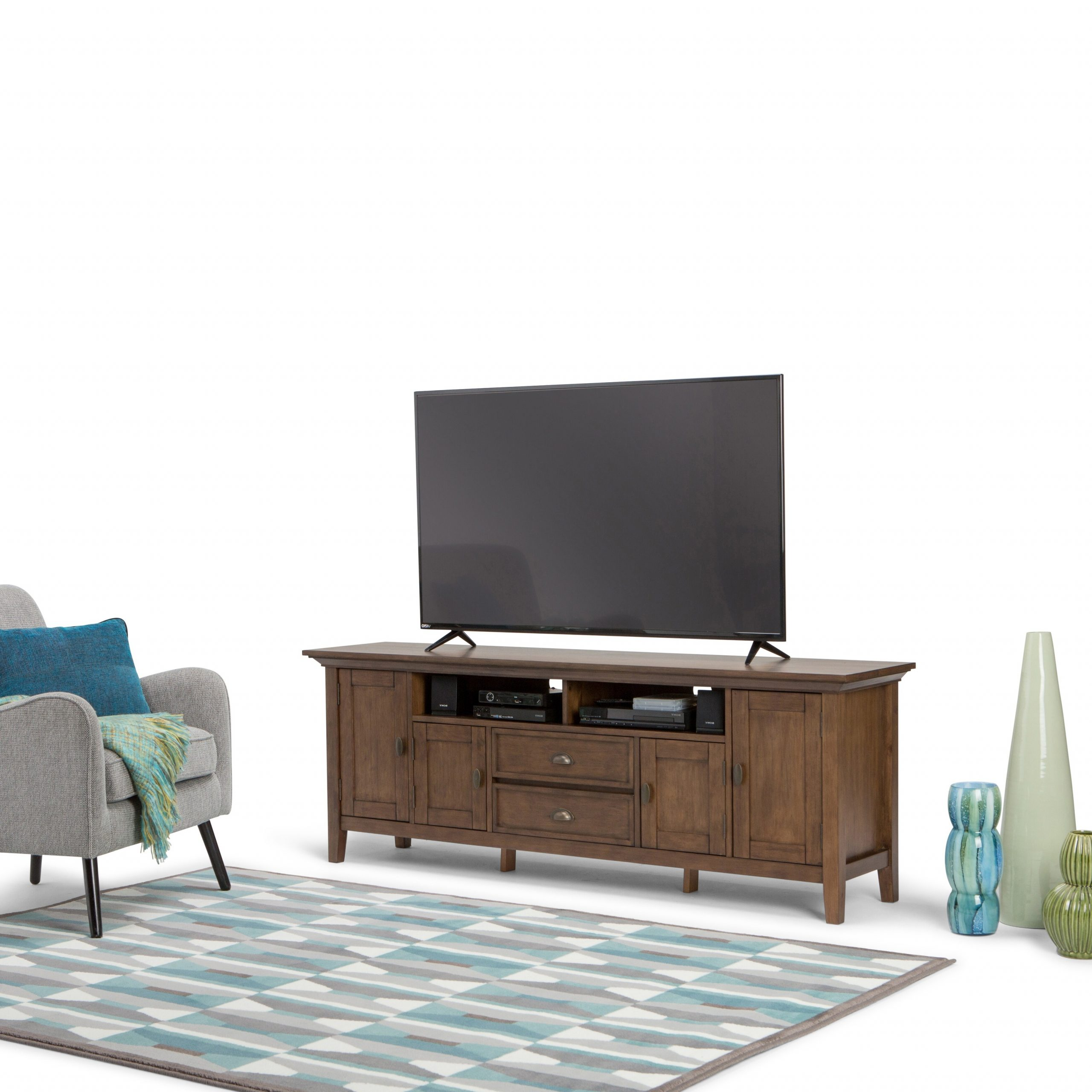 """Widely Used Miconia Solid Wood Tv Stands For Tvs Up To 70"""" With Wyndenhall Mansfield Solid Wood 72 Inch Wide Rustic Tv (View 18 of 25)"""