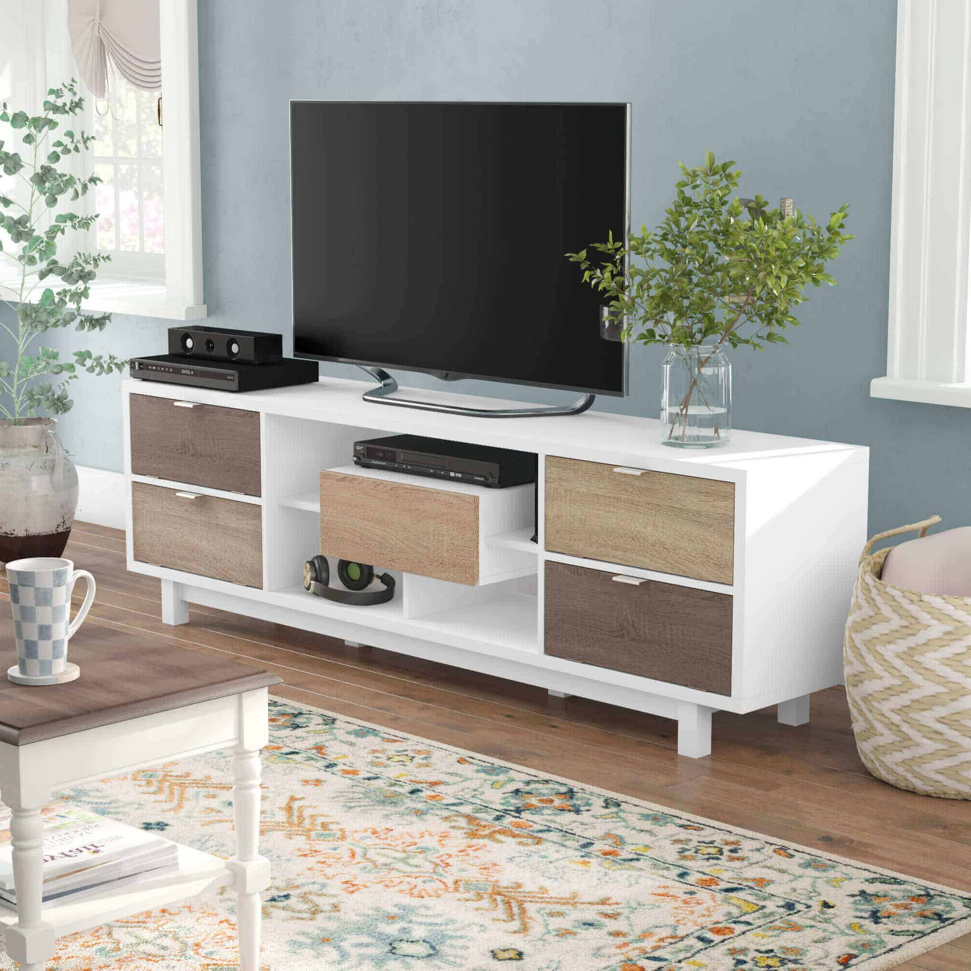 Widely Used Most Beautiful And Incredible Tv Stand Design Ideas With Regard To Modern Black Tabletop Tv Stands (View 1 of 10)
