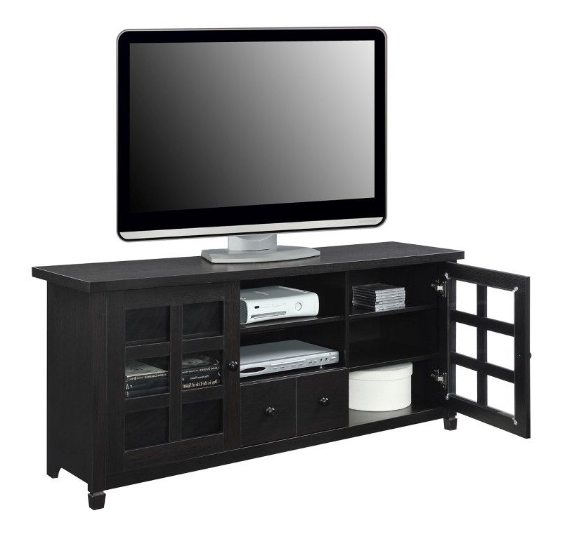 """Widely Used Newport Park Lane Tv Stand In Espresso Finish In Convenience Concepts Newport Marbella 60"""" Tv Stands (View 4 of 10)"""