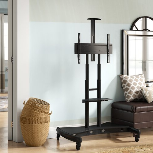 Widely Used Symple Stuff West Harptree Black Swivel Floor Stand Mount In Randal Symple Stuff Black Swivel Floor Tv Stands With Shelving (View 24 of 25)