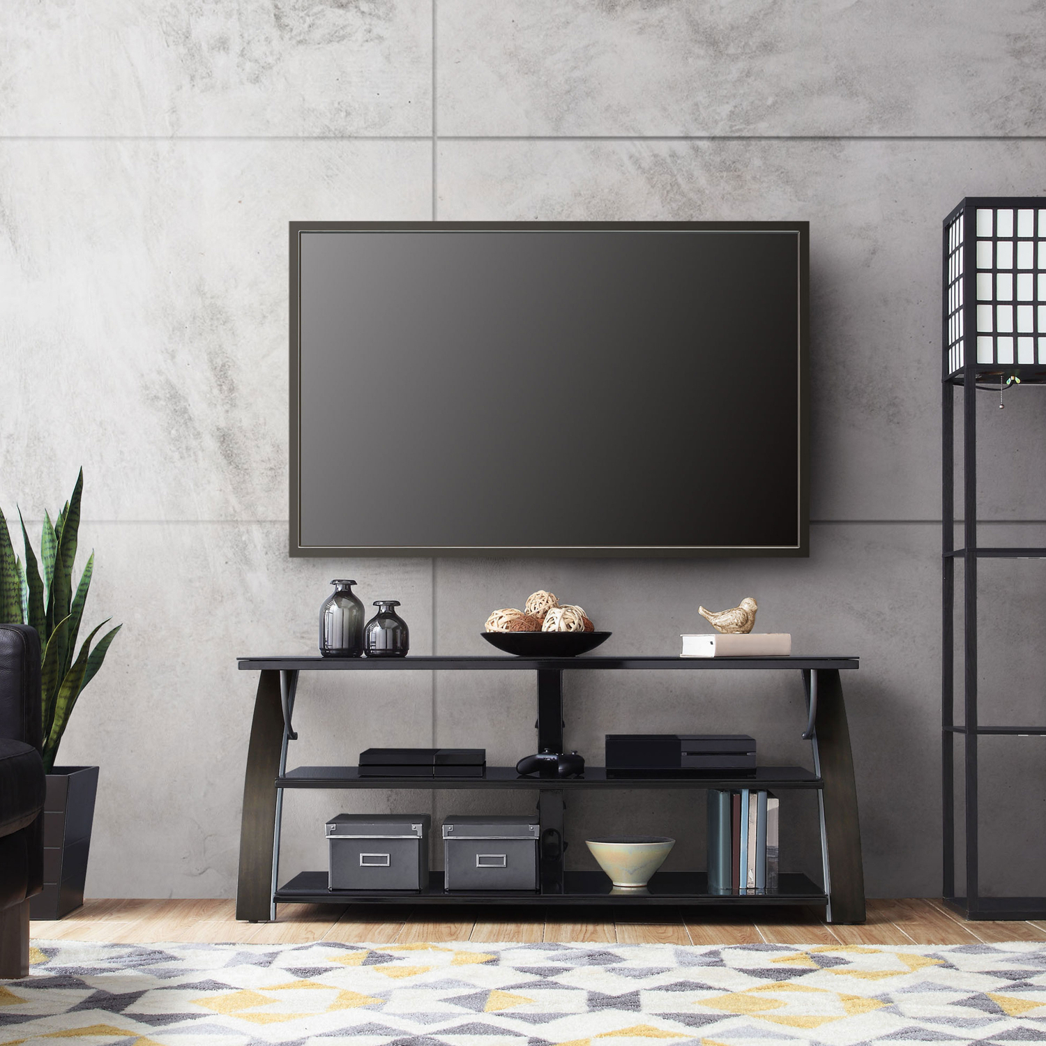 """Widely Used Whalen Payton 3 In 1 Flat Panel Tv Stands With Multiple Finishes Throughout Tv Stand Flat Panel For Tvs Up To 65"""" Screen Entertainment (View 9 of 10)"""
