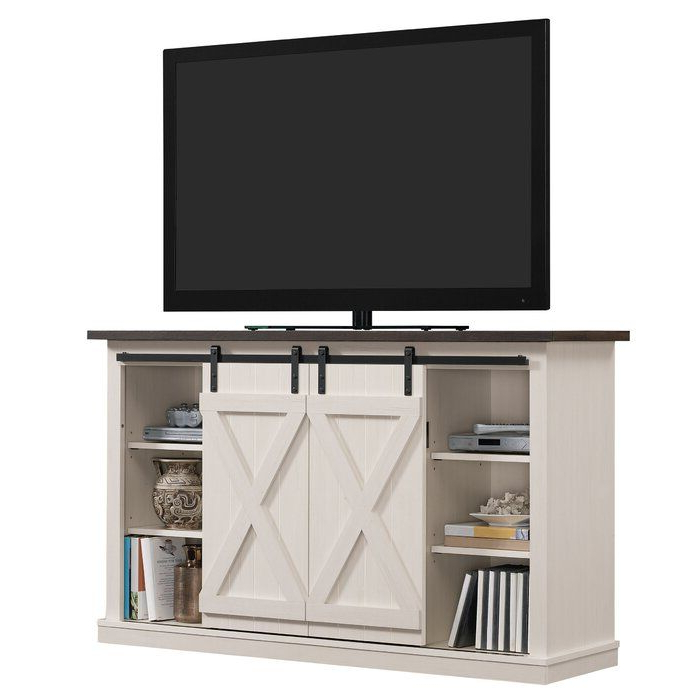 Widely Used Woven Paths Barn Door Tv Stands In Multiple Finishes Within Lorraine Tv Stand For Tvs Up To 60 Inches & Reviews (View 5 of 10)