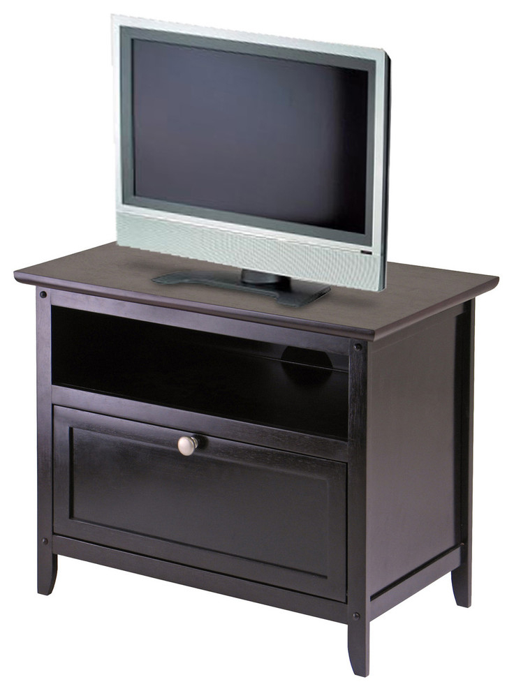 Winsome Wood Zena Corner Tv & Media Stands In Espresso Finish In Most Recent Winsome Zara Tv Stand In Espresso – Transitional (View 4 of 10)