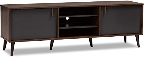 Winsome Wood Zena Corner Tv & Media Stands In Espresso Finish Pertaining To Fashionable New Baxton Studio 148 8669 Amz Salubelle Tv Stand, Walnut (View 2 of 10)