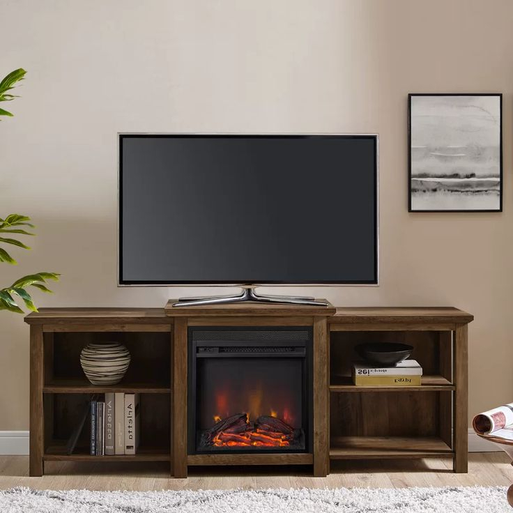"""Woodbury Tv Stand For Tvs Up To 78"""" With Fireplace Inside Recent Hetton Tv Stands For Tvs Up To 70"""" With Fireplace Included (View 6 of 25)"""