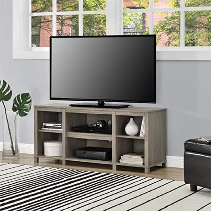 """Woven Paths Farmhouse Barn Door Tv Stands In Multiple Finishes In Well Liked Mainstay Parsons Cubby Tv Stand Holds Up To 50"""" Tv – Black (View 7 of 10)"""