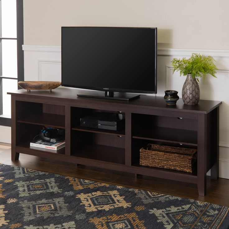 Woven Paths Open Storage Tv Stand For Tvs Up To 80 For Most Popular Woven Paths Open Storage Tv Stands With Multiple Finishes (View 1 of 10)