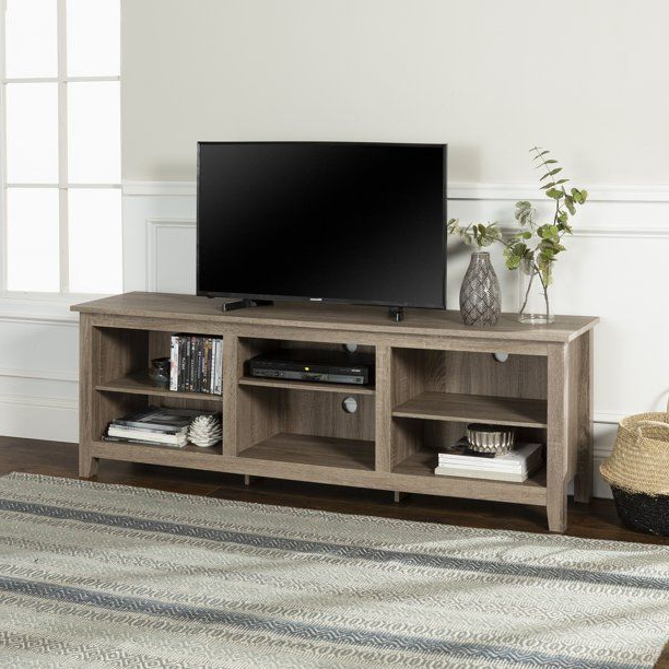 Woven Paths Open Storage Tv Stands With Multiple Finishes Throughout 2018 Woven Paths Open Storage Tv Stand For Tvs Up To  (View 8 of 10)