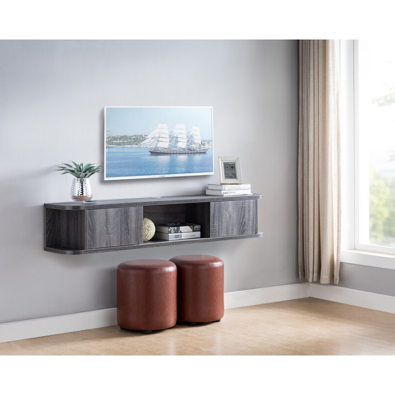 """Wrought Studio Keim Solid Wood Floating Tv Stand For Tvs For Most Recent Griffing Solid Wood Tv Stands For Tvs Up To 85"""" (View 11 of 25)"""