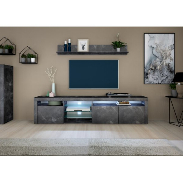 """Zipcode Design Eleada Tv Stand For Tvs Up To 88"""" & Reviews In Current Ailiana Tv Stands For Tvs Up To 88"""" (View 3 of 25)"""