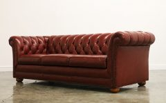 Tufted Leather Chesterfield Sofas