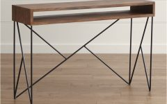 Parsons Black Marble Top & Dark Steel Base 48x16 Console Tables
