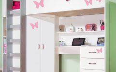 High Sleeper Cabin Bed with Wardrobes