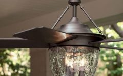 Outdoor Ceiling Fans with Lantern